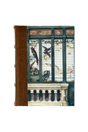 Bomo Art Medium Half Leather Bound Journal - Birdhouse