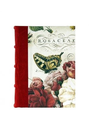 Bomo Art Medium Half Leather Bound Journal - Roses