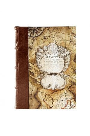 Bomo Art Medium Half Leather Bound Journal - Sailing Map