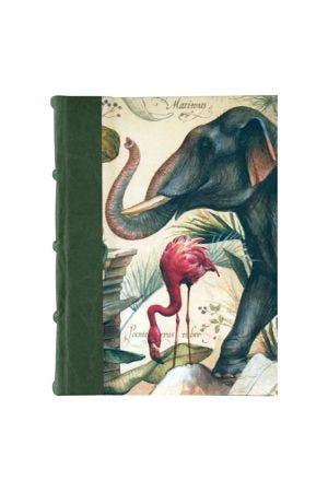 Bomo Art Medium Half Leather Bound Journal - Wild Animals