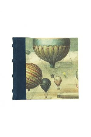 Bomo Art Square Half Leather Bound Journal - Balloons