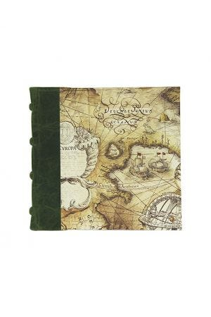 Bomo Art Square Half Leather Bound Journal - Sailing Map