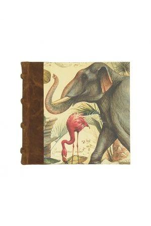Bomo Art Square Half Leather Bound Journal - Wild Animals
