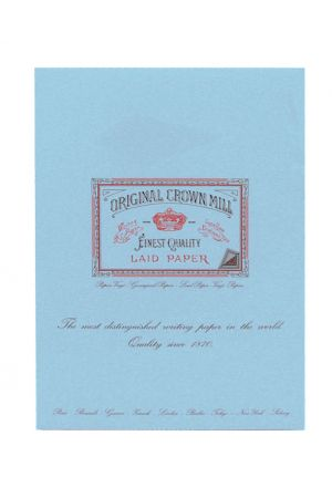 Original Crown Mill Laid Paper A4 Writing Pad - Blue