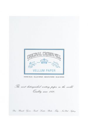 Original Crown Mill Vellum Paper A4 Writing Pad - White