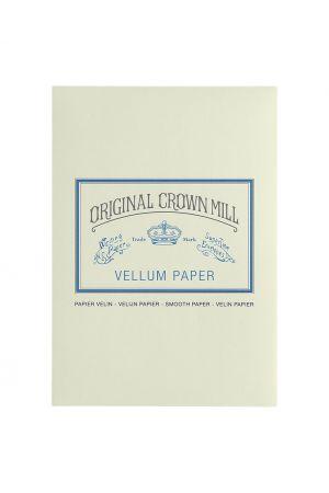 Original Crown Mill Vellum Paper A5 Writing Pad - Cream