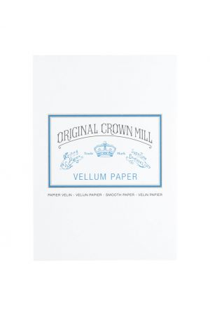 Original Crown Mill Vellum Paper A5 Writing Pad - White