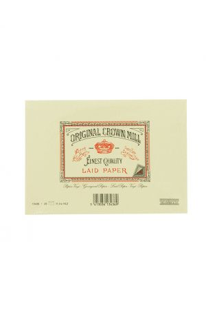 Original Crown Mill Laid Paper C6 Lined Envelopes - Cream