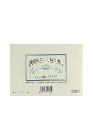 Original Crown Mill Vellum Paper C6 Lined Envelopes - Cream