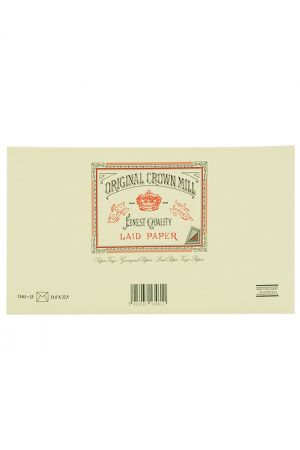 Original Crown Mill Laid Paper DL Lined Envelopes - Cream