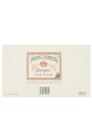 Original Crown Mill Laid Paper DL Lined Envelopes - White