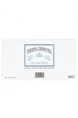 Original Crown Mill Vellum Paper DL Lined Envelopes - White