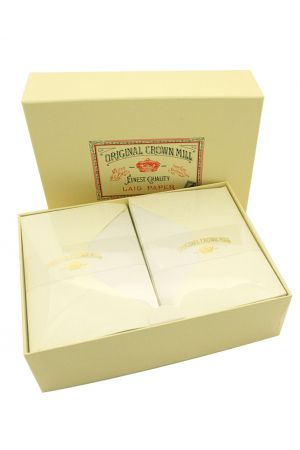 Original Crown Mill Luxury Laid Paper A5 Writing Set - Cream
