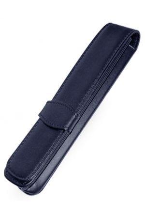 Online Leather 1 Pen Case - Blue