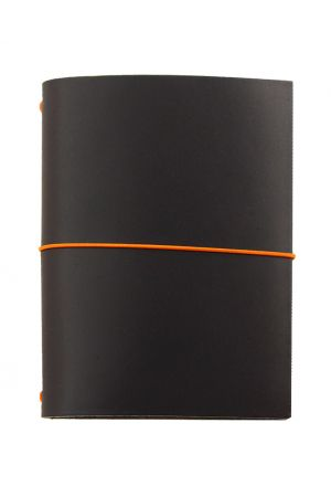 Paper Republic Grand Voyageur Leather Travel Notebook - Black