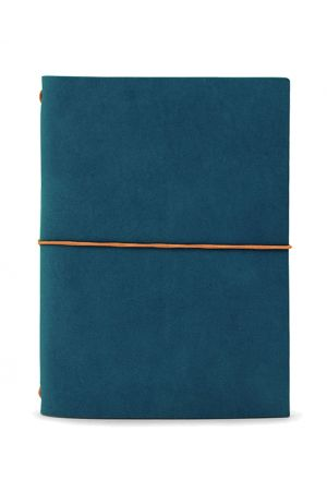 Paper Republic Grand Voyageur Leather Travel Notebook - Petrol