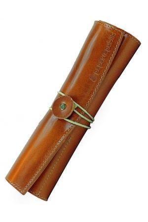 Paper Republic Le Porte-Plume Leather Pen Case - Cognac