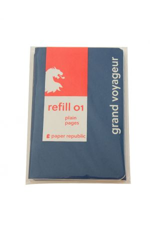 Paper Republic Refill 01 - Passport - Plain Pages (Pack of 2)