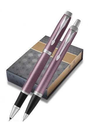 Parker IM Light Purple Ballpoint and Rollerball Gift Set