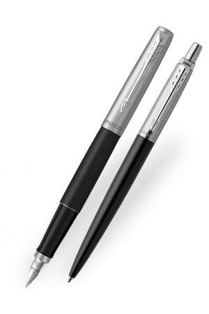 Parker Jotter Bond Street Black Fountain & Ballpoint Pen Set
