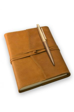 Parker Jotter Premium Gold Ballpoint Pen & Amalfi Refillable Leather Journal