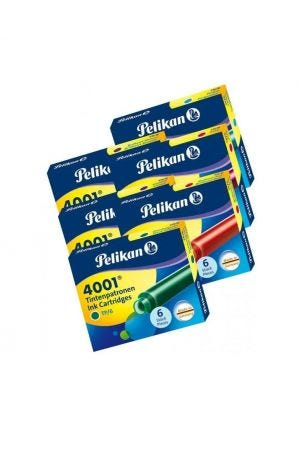Pelikan 4001 Short Ink Cartridges (Pack of 6)