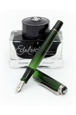 Pelikan Classic M205 Special Edition Olivine Fountain Pen Gift Set
