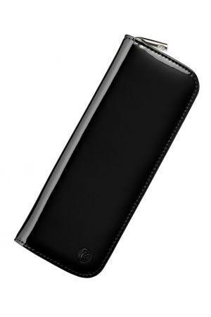 Pelikan Leather 2 Pen Zip Case - Patent Black