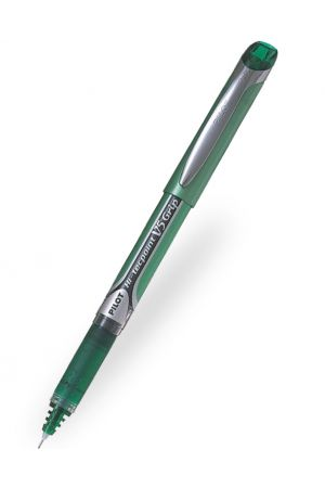 Pilot V5 Grip Hi-Tecpoint Rollerball Pen - Green