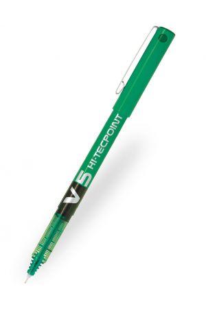 Pilot V5 Hi-Tecpoint Rollerball Pen - Green