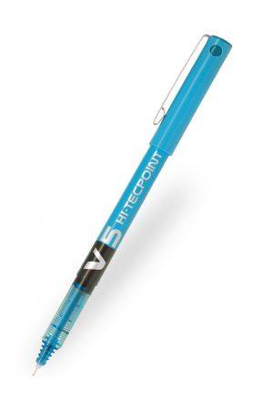 Pilot V5 Hi-Tecpoint Rollerball Pen - Light Blue