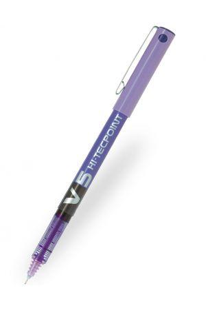 Pilot V5 Hi-Tecpoint Rollerball Pen - Violet