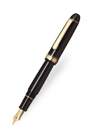 Platinum #3776 Century Black Gold Trim Slip & Seal Fountain Pen