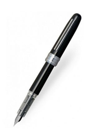 Platinum Plaisir Fountain Pen - Black (Fine nib)