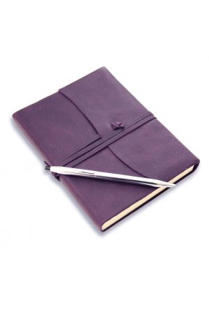 Cross Lustrous Chrome Ballpoint Pen & Amalfi Medium Leather Journal