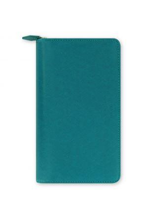 Filofax Saffiano Compact Zip Organiser - Aquamarine