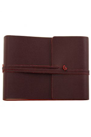 Saffiano Large Leather Photo Album - Burgundy
