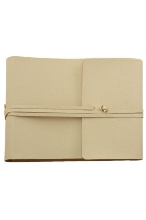 Saffiano Large Leather Photo Album - Ivory