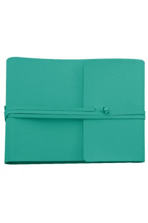 Saffiano Large Leather Photo Album - Turquoise