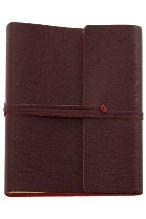 Saffiano Extra Large Leather Photo Album - Burgundy
