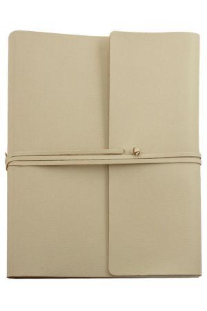 Saffiano Extra Large Leather Photo Album - Ivory