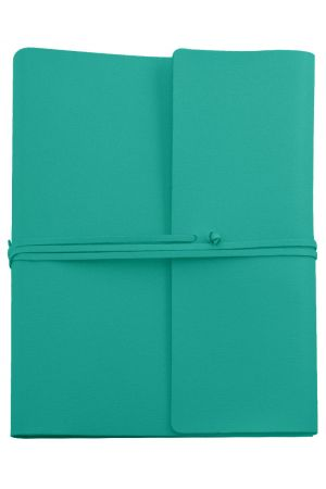 Saffiano Extra Large Leather Photo Album - Turquoise
