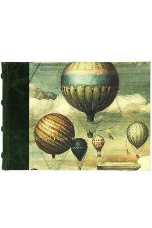 Bomo Art Half Leather Bound Sketch Book - Balloons