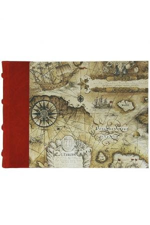 Bomo Art Half Leather Bound Sketch Book - Sailing Map