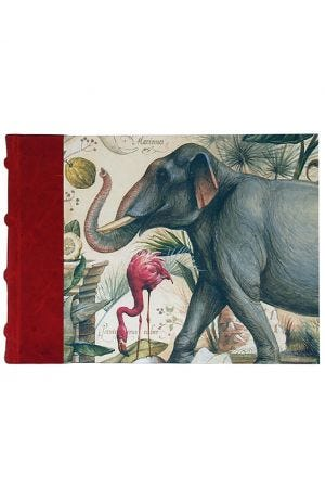 Bomo Art Half Leather Bound Sketch Book - Wild Animals