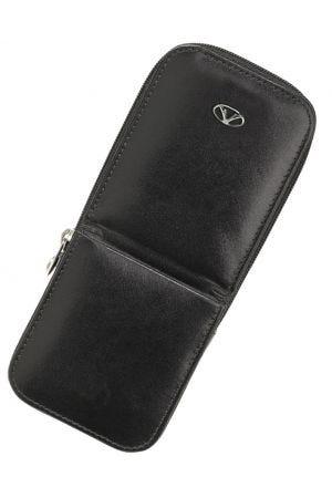 Visconti Leather Two Pen Case