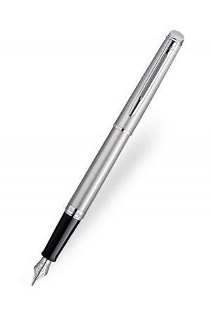 Waterman Hemisphere Stainless Steel Fountain Pen - Chrome Trim