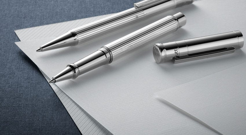 6 Beautiful brushed stainless-steel Classic Pen Set