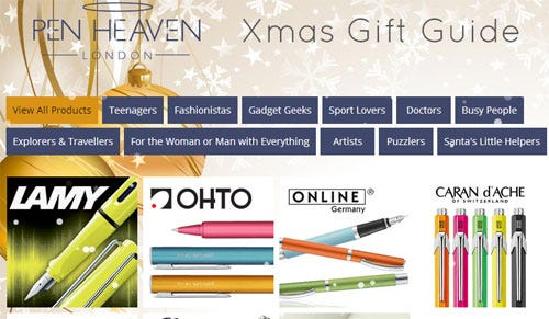 Introducing the Pen Heaven Christmas Gift Guide