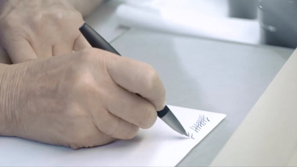 Lamy Studio fountain being being tested by hand